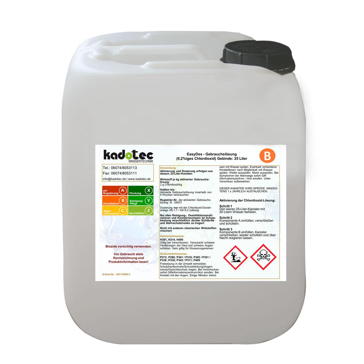 <strong>Ansetzbehälter 25 Liter</strong>